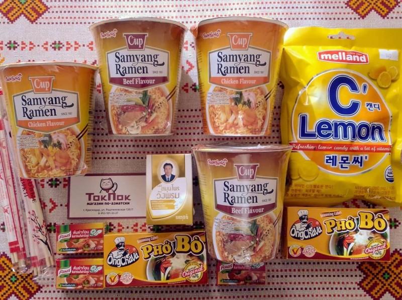 Азиатские продукты из интернет-магазина Токпок