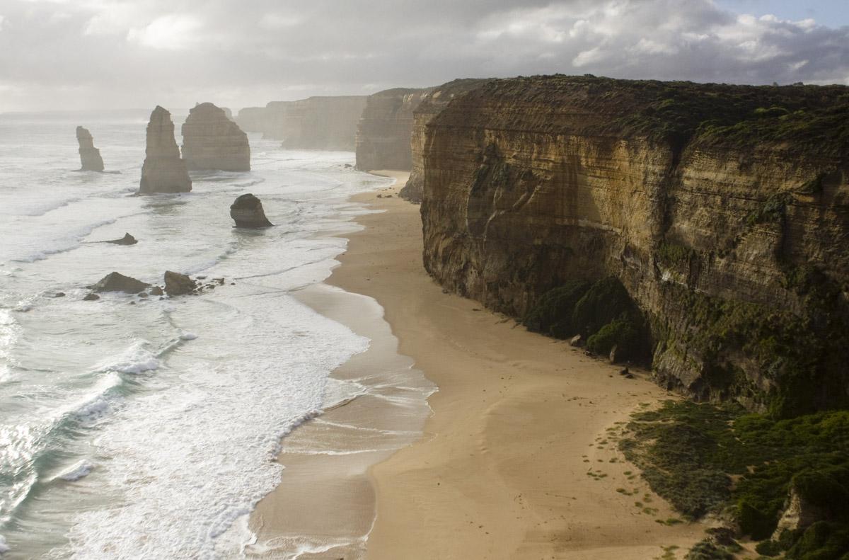Австралия по great ocean road к the twelve apostles