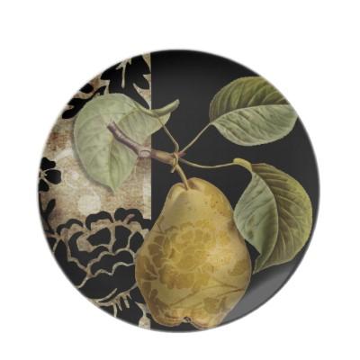Damask Pear Dinner Plate