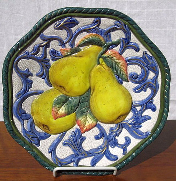 Fitz and Floyd Pear Plate