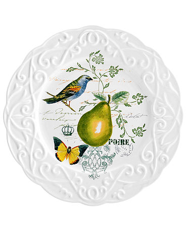 Mikasa Dinnerware, Antique Countryside Pear Salad Plate