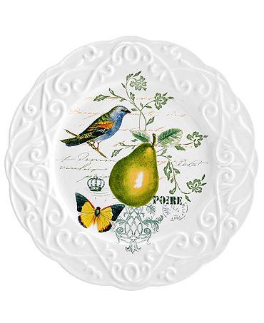 Mikasa Dinnerware, Antique Countryside Pear Salad Plate