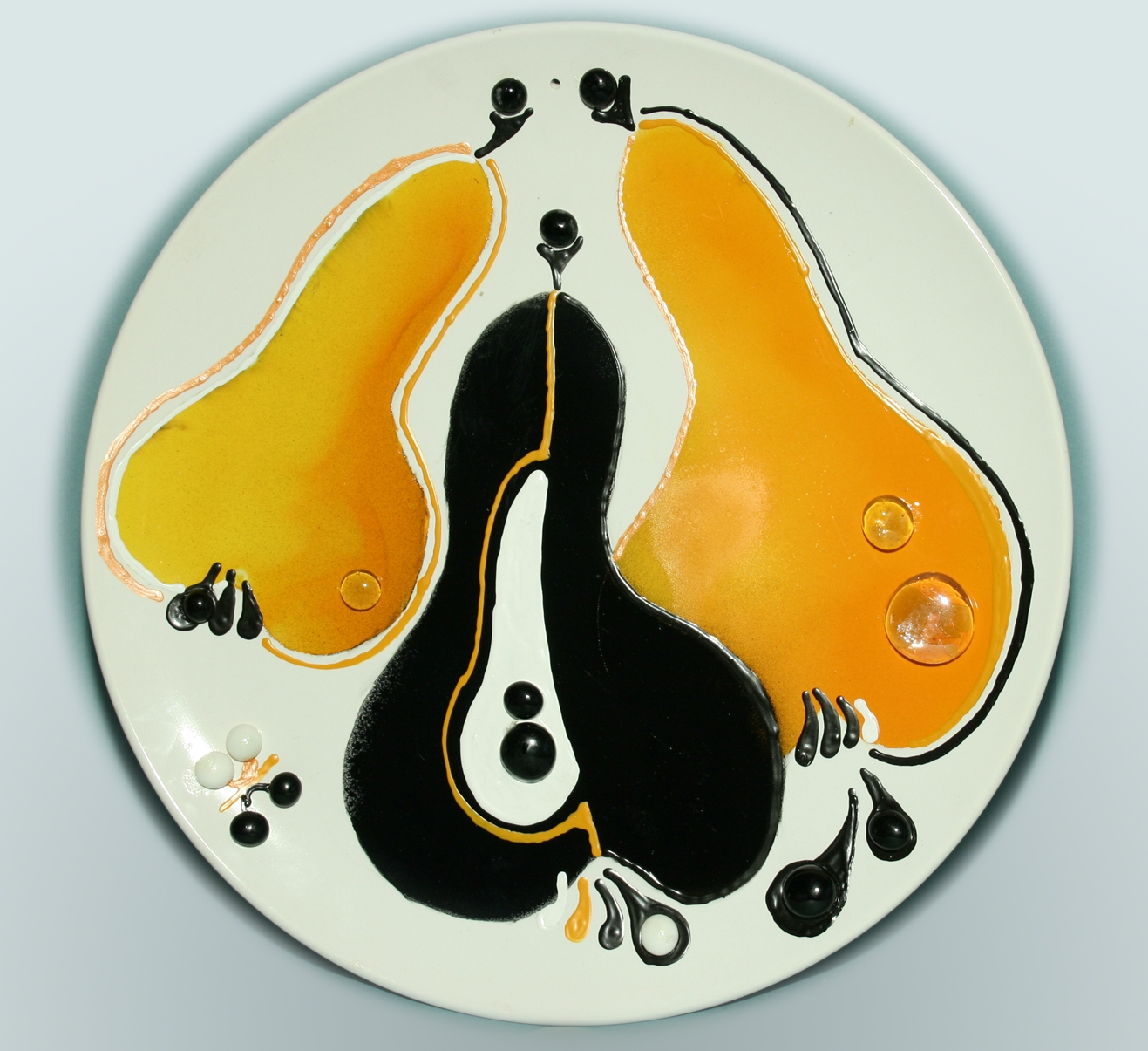 Жанна Гордина. Груши. Декоративная тарелка.