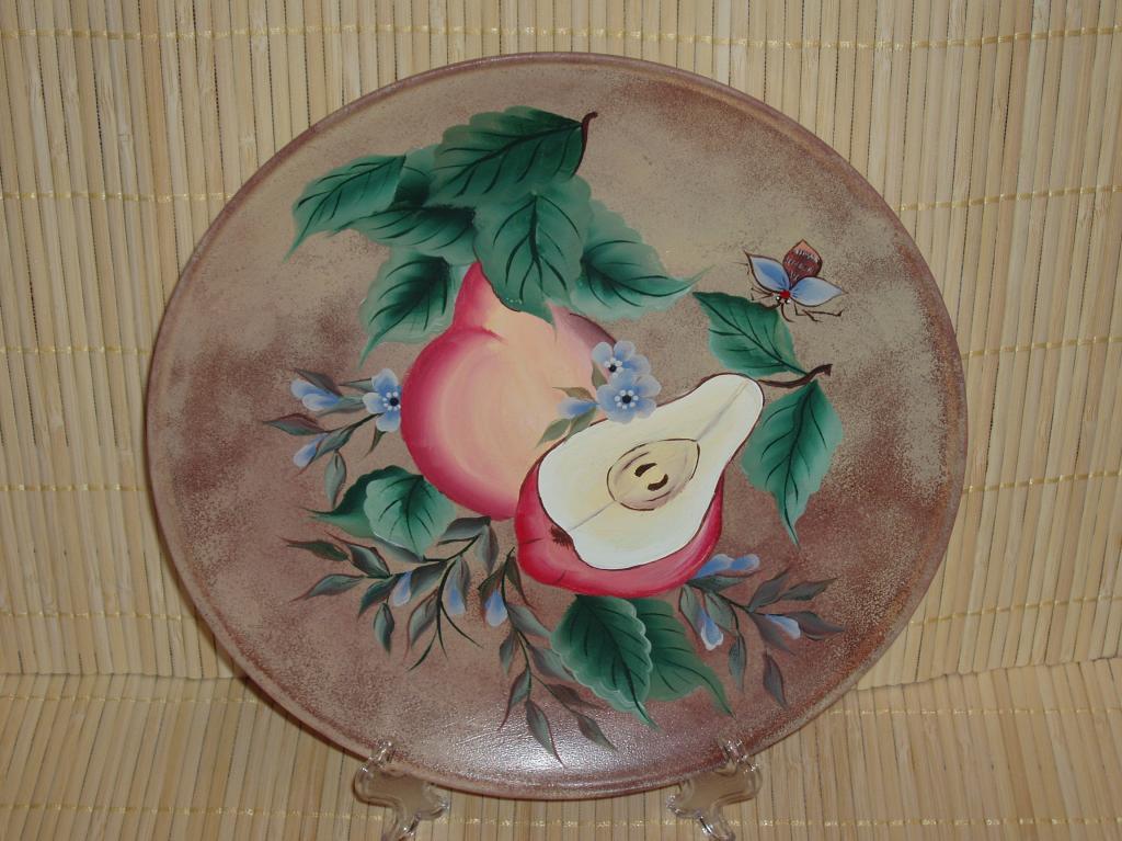Декоративная тарелка «Груши»