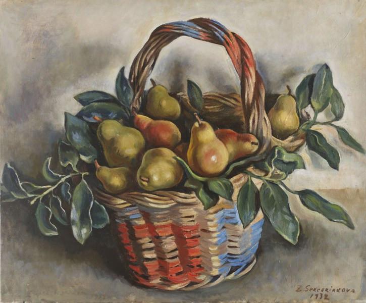 Zinaida Serebriakova still life with a basket of pears, 1932