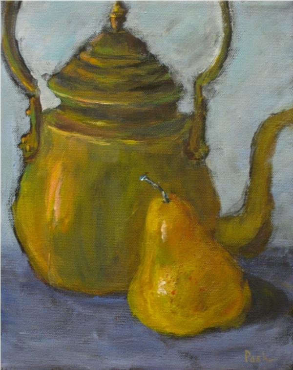 Barbara Pask Teapot & Pear