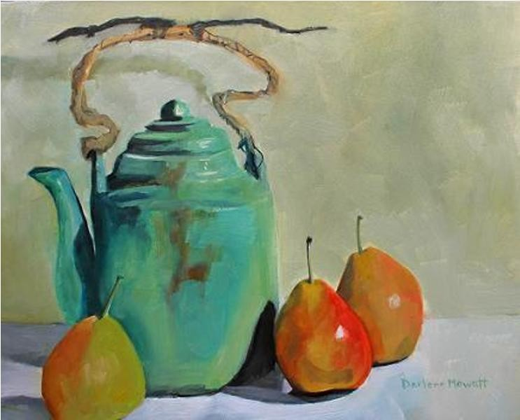 Darlene Mowatt  Teapot and pears
