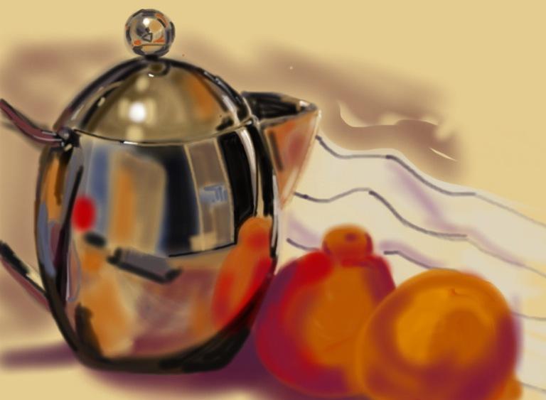 Davida Schulman  TeapotwithFruit