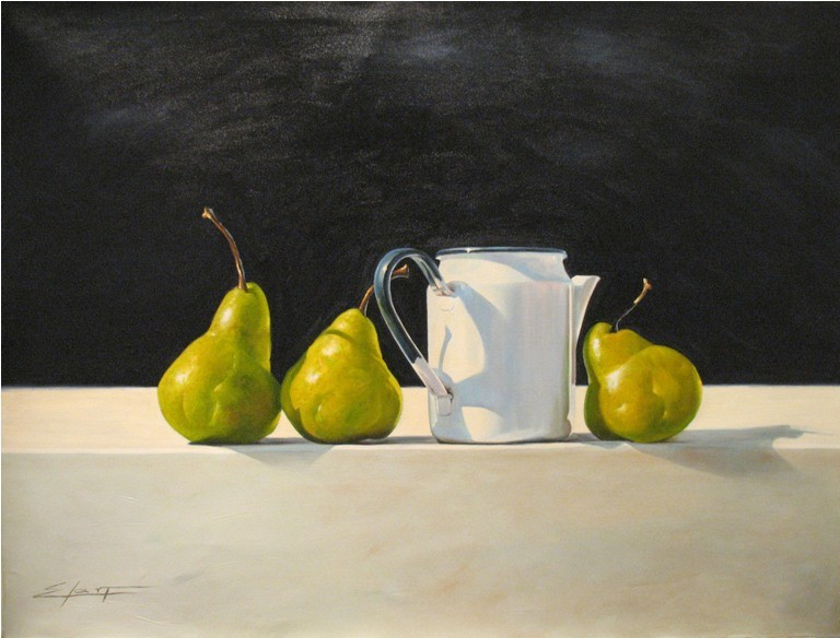 Elarf Lopez Pears with Teapot