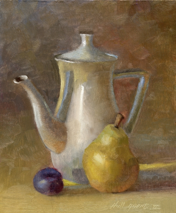 Hall Groat II TEAPOT WITH PEAR & PLUM