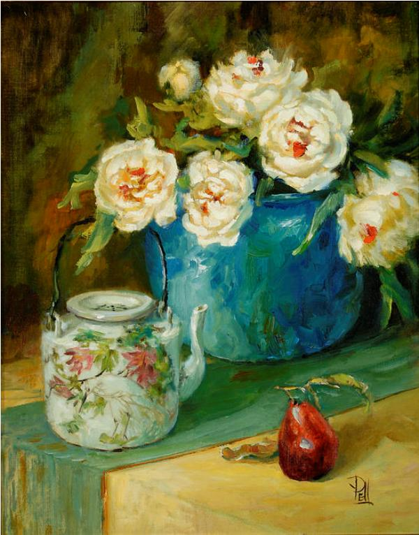 Lilli Pell Peonies with Anns teapot