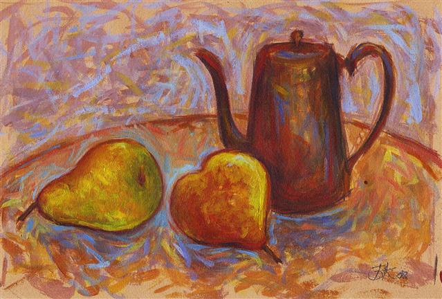 Bernadette Koranteng Still Life with Pears and Coffee Pot