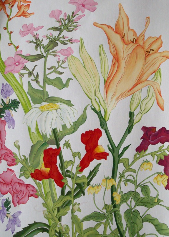 Rebecca Webster.    Daisy, snapdragons & daylily.