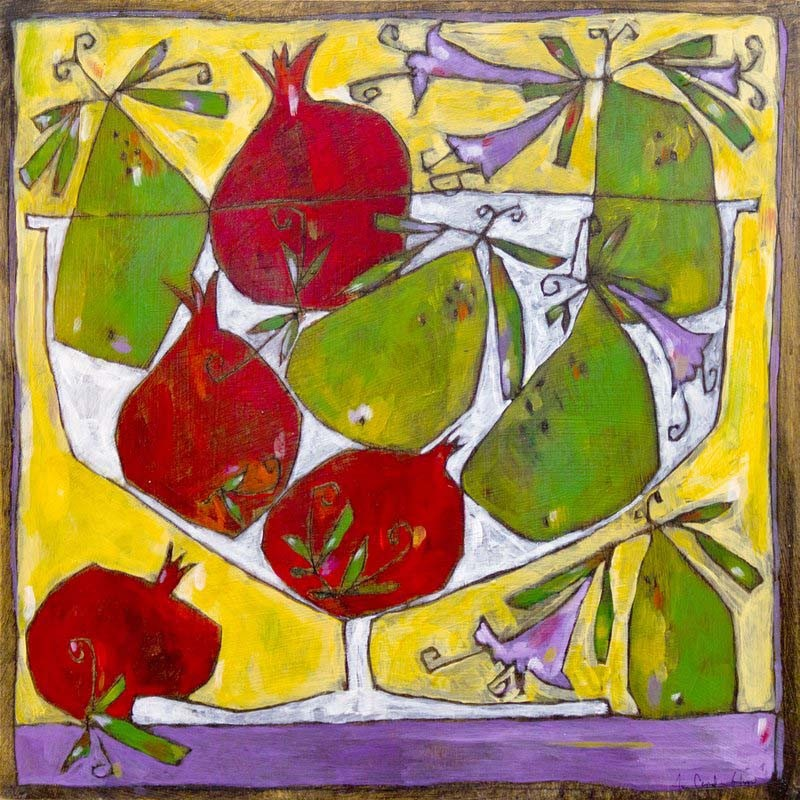 Amy Glisan. Pomegranates and Pears