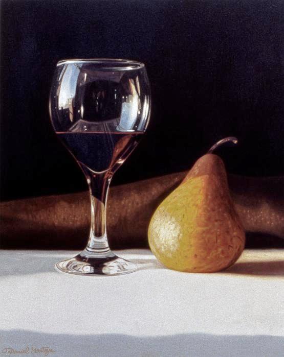 Daniel Montoya. Wine Glass And Pear.
