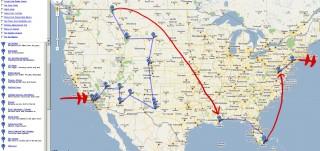USA TRIP - tentative route plan