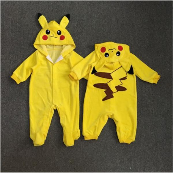 Pokemon-Перейти-Комбинезон-Малышей-Младенческой-Новорожденных-