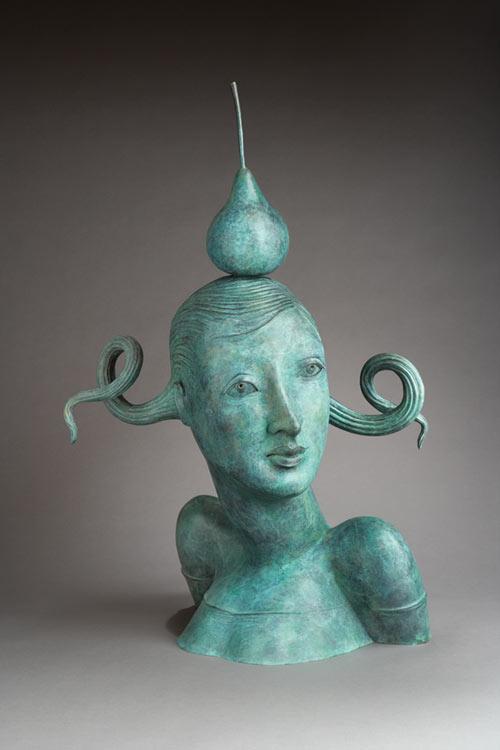Провокационная керамика Патти Warashina. Warashina_Patti-Woman_with_pear