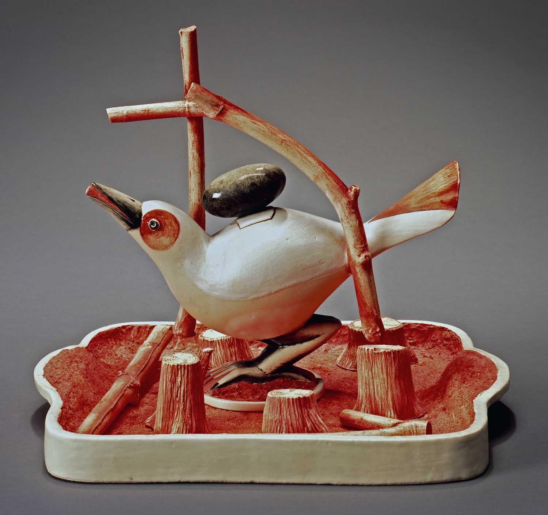 Провокационная керамика Патти Warashina. Patti Warashina -Snow Bird-Saki Set