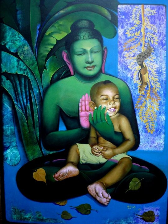 Painting Of Goutam Budhha[3]