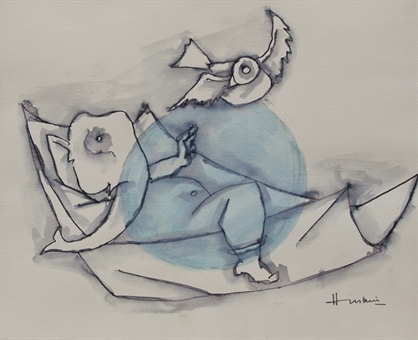 maqbool-fida-husain-ganesh-works-on-paper-drawings-watercolors-etc-watercolor-ink