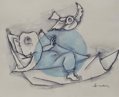 maqbool-fida-husain-ganesh-works-on-paper-drawings-watercolors-etc-watercolor-ink
