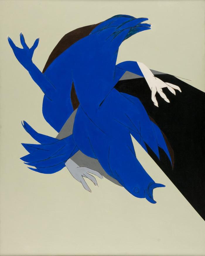 Tyeb Mehta  1999  151  cm x 120 cm  Acrylic  Blue bird