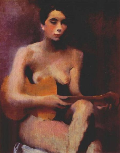 Владимир Лебедев Русский 1891 - 1967 Обнаженная с гитарой