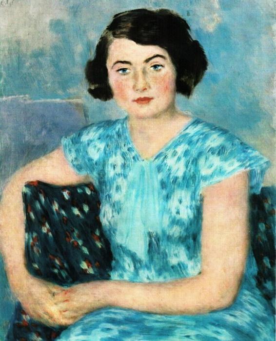М.П. Рит в голубом 1935
