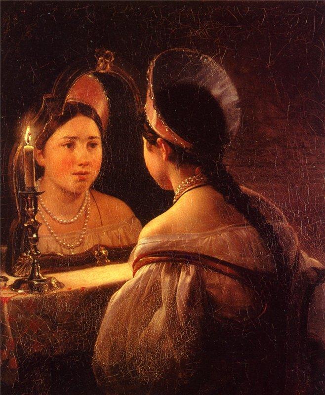 Карл Брюллов Гадающая Светлана 1836 г.
