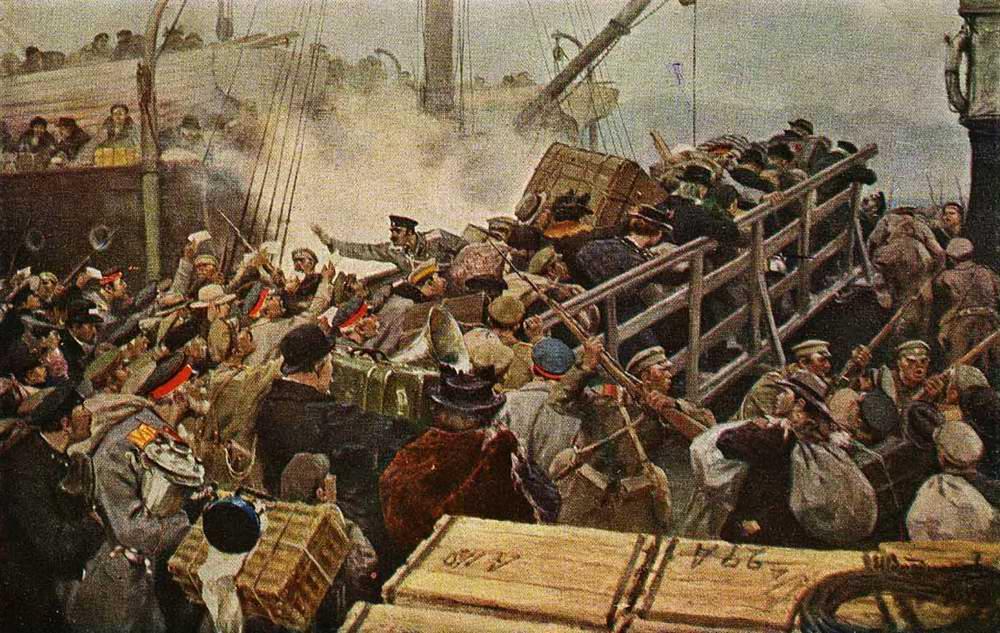 Бегство буржуазии из Новороссийска в 1920 году