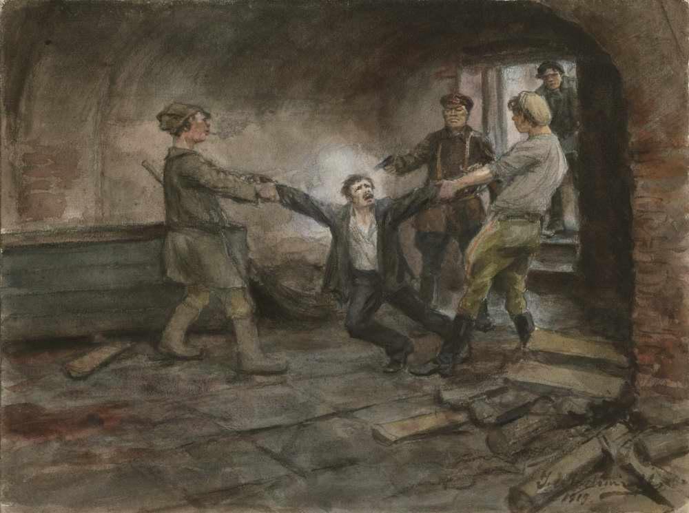 В подвалах ЧК (1919)