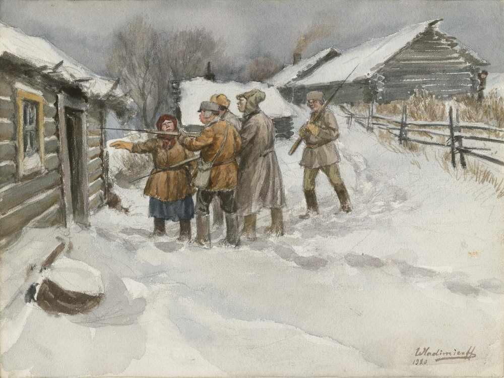 В поисках сбежавшего кулака (1920)