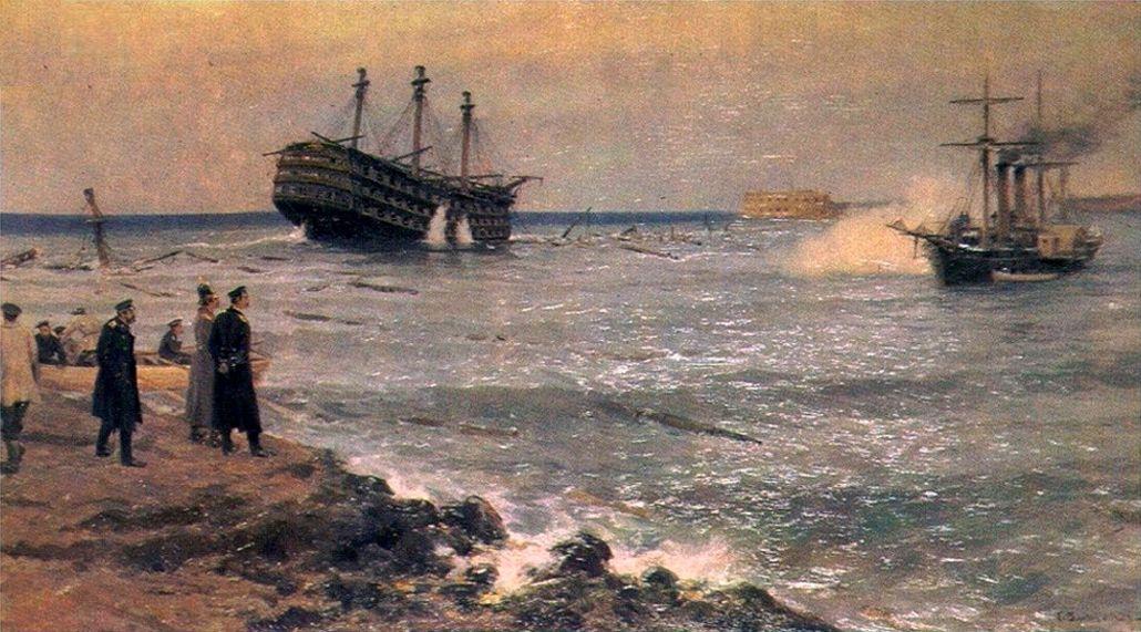 Затопление_кораблей_Черноморского_флота_на_Севастопольском_рейде_11_сентября_1854_года