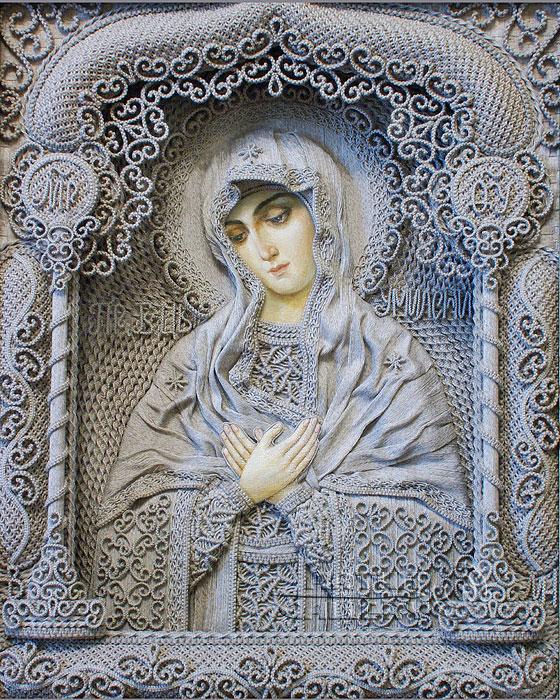 Фоторепродукция иконы, подаренной патриарху Кириллу