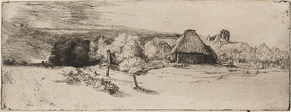 Landscape with Trees, Farm Buildings and a Tower, 1651 год