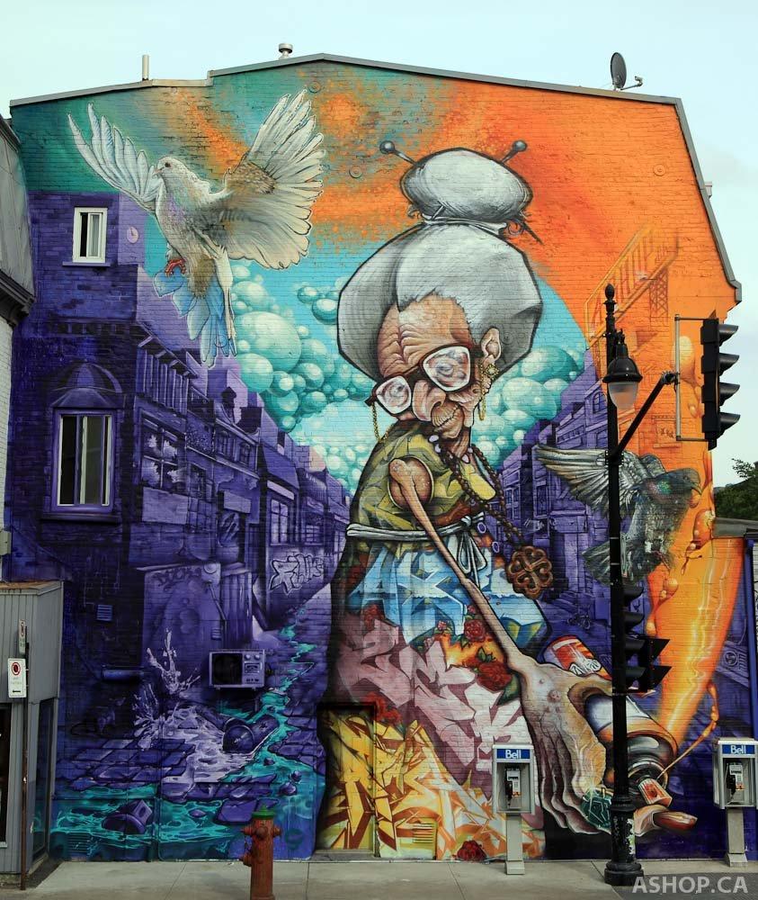 A'SHOP Mural на фестивале - в Монреале, Канада