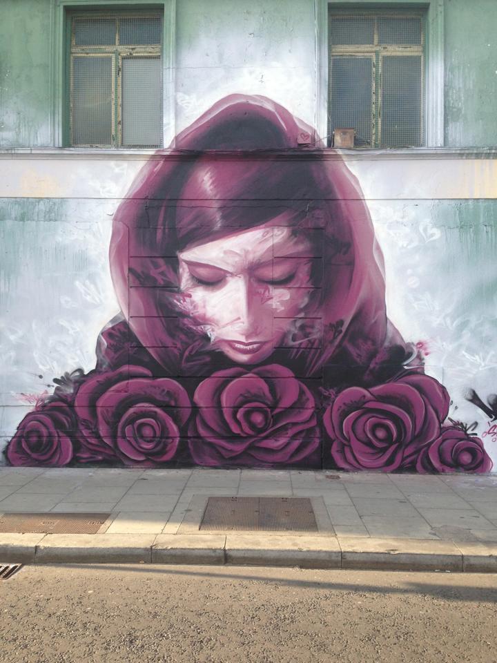 Street Art Дермот McConaghy в Дублине, Ирландия