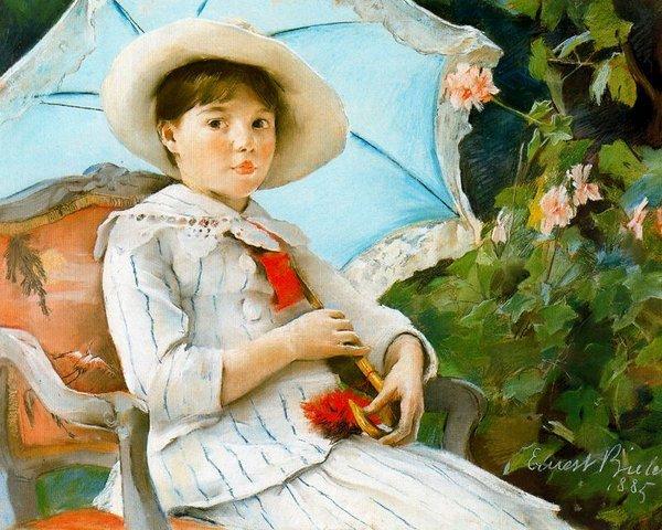 Portrait de Nathalie Biéler, soeur de l'artiste-1885