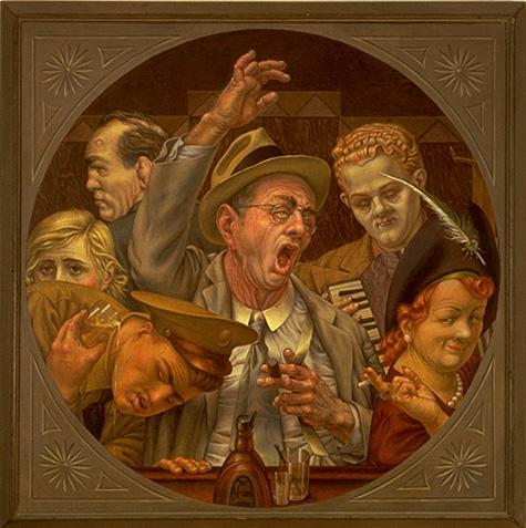 Кадм, Поль - Hinky Parley Dinky Voo - американских реализмы - Жанр - Смешанная техника