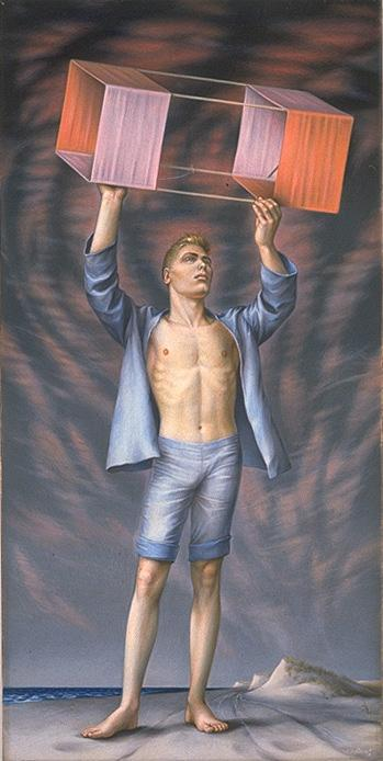 Кадм, Поль - Авиатор - американских реализмы - Портрет - темпера