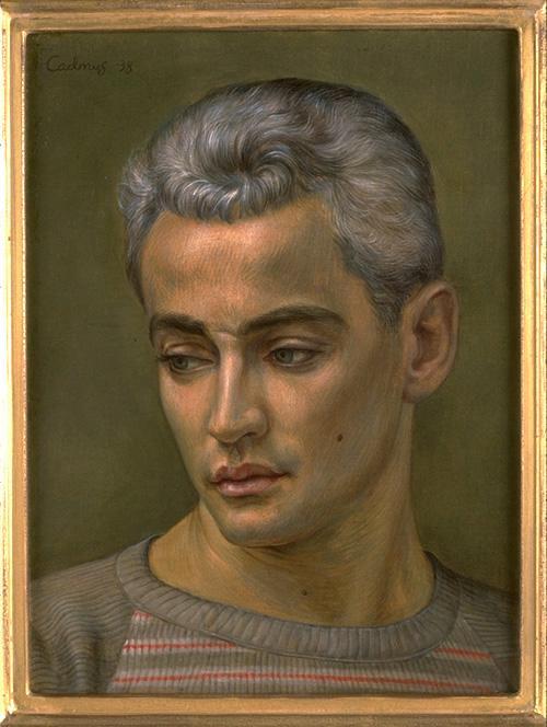 Портрет Джорджа Платт Лайнс - американских реализмы - Портрет - Смешанная техниКА