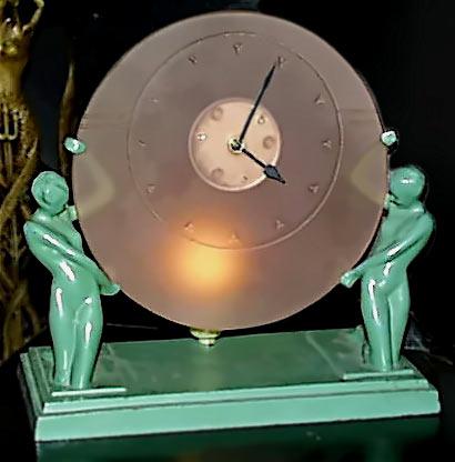 Art Deco Frankart. Редкие часы с подсветкой