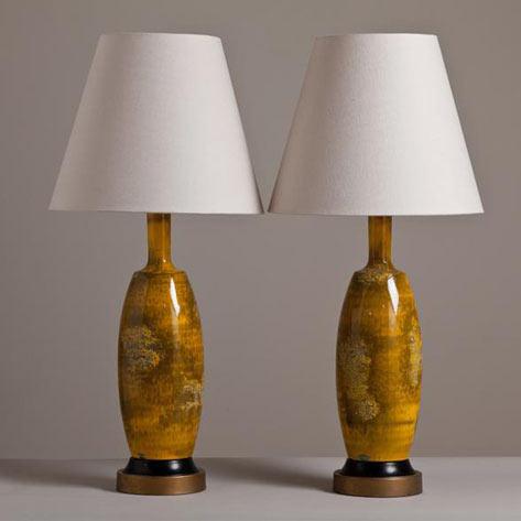 застекленные настольные лампы - 1950-х годов