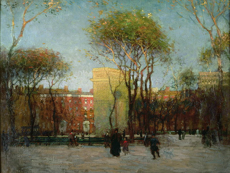 Washington-Square-New-York-1900-xx-Paul-Cornoyer