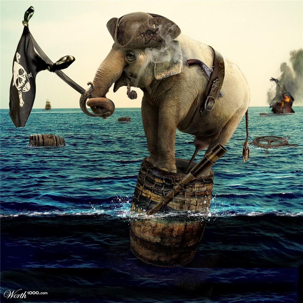 Пиратские Слон