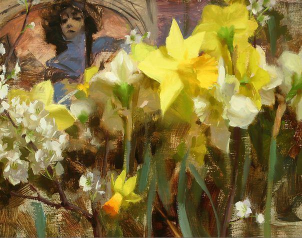 Keys-Daniel-J.-ZHivopis-maslom-natyurmort.-Mucha-Narcissus.-11h14-dyuymov