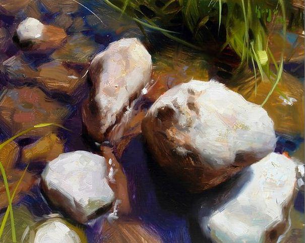 Keys-Daniel-J.-ZHivopis-maslom-natyurmort.-River-Rocks.-11h14-dyuymov