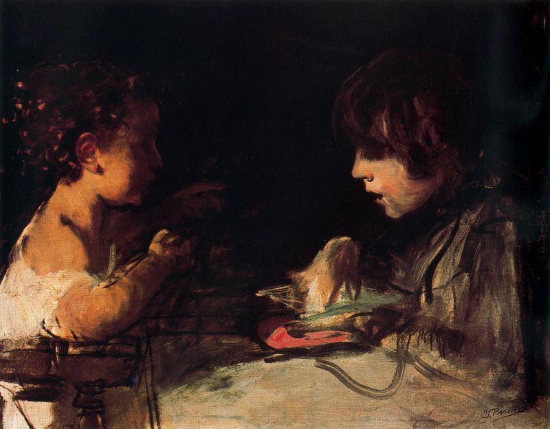 Ignacio-Pinazo-Joseph-and-Ignacio-children-of-the-artist