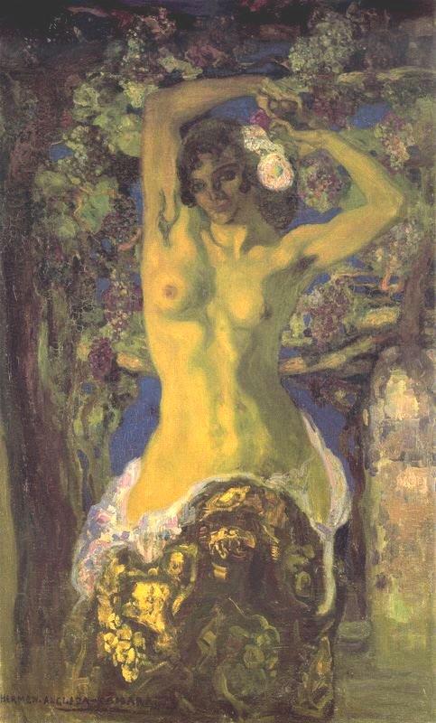 Desnudo bajo la parra - 1909